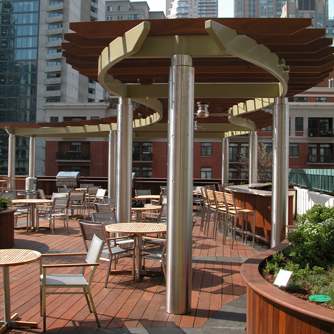 JRA_One Superior Amenity Deck_Pergola and Planters