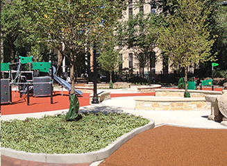 JRA Goudy Square Park Playground Trees