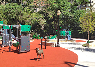 JRA Goudy Square Park Playground Deer Sculpture