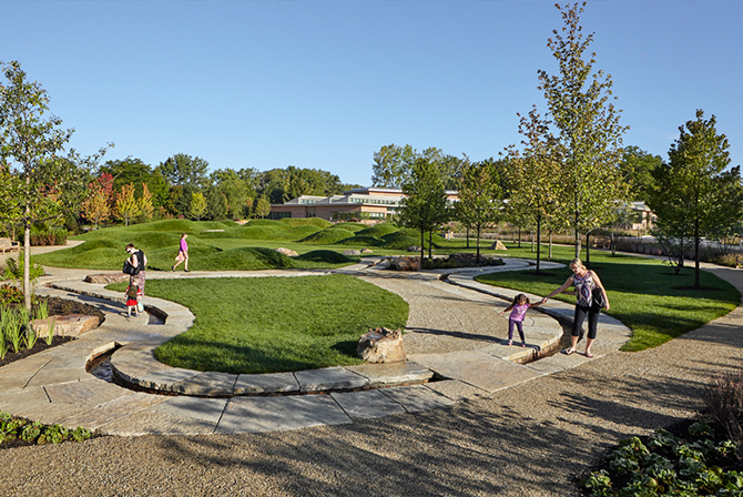 JRA_Chicago Botanic Garden Childrens Learning Campus_Runnel and Mounds