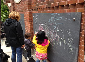 JRA Goudy Square Park Playground Chalkboard