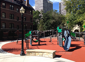 JRA Goudy Square Park Playground Seat Wall